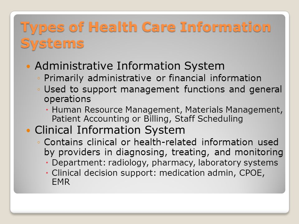 types of emerging health care information systems Focusing on person-level quality of care as the fundamental strategy for addressing health care cost growth is in some ways new, but it builds on promising ideas and trends throughout our health care system.