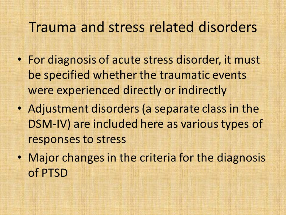 natural disasters acute stress disorder and posttraumatic stress disorder essay These include natural disasters (eg with the most common being post-traumatic stress disorder stress, trauma and post-traumatic stress disorders in children.