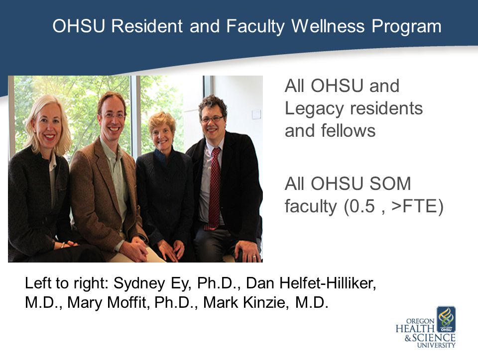 OHSU Resident & Faculty