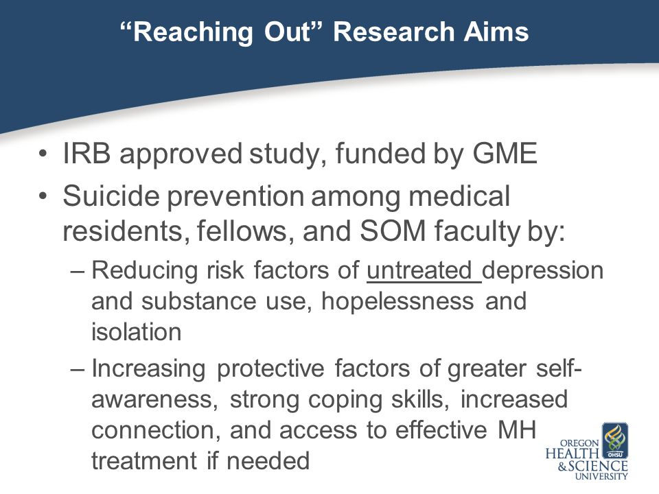 Reaching Out Research Aims