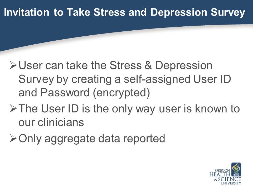 Invitation to Take Stress and Depression Survey