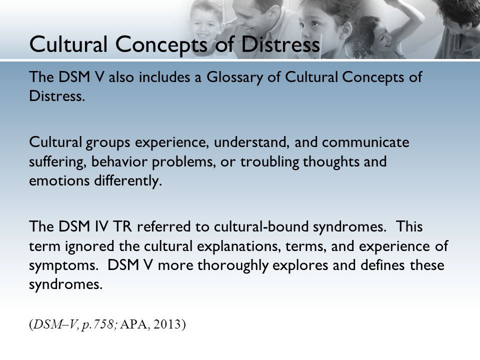 Cultural Concepts of Distress