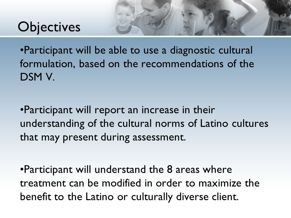 Developing a Cultural Formulation and Intervention for the Latino Client
