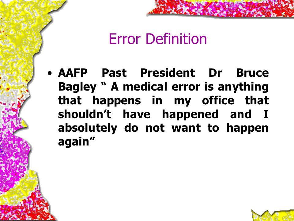 Error Definition