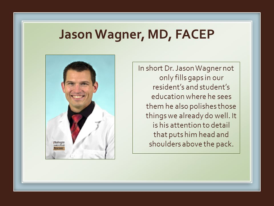 Jason Wagner, MD, FACEP