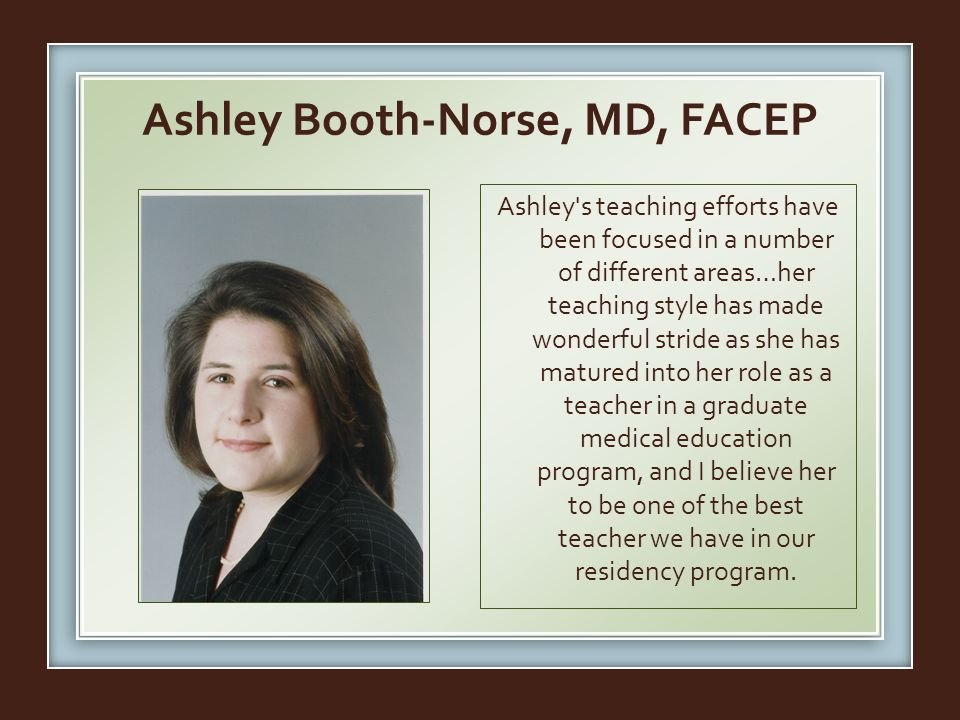 Ashley Booth-Norse, MD, FACEP