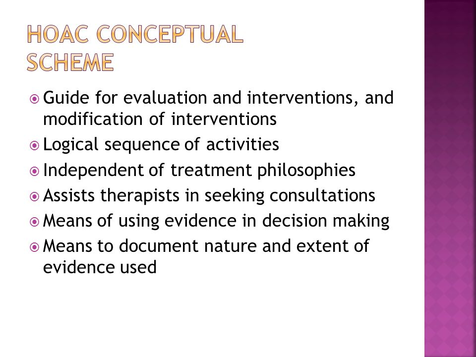 HOAC Conceptual Scheme