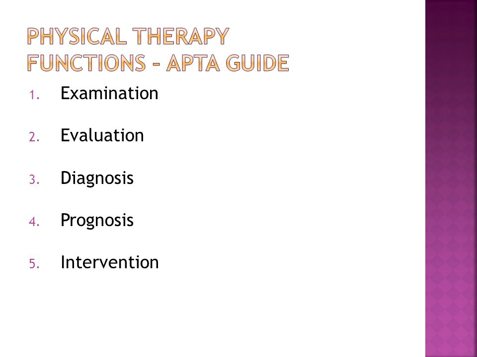 Physical Therapy Functions – APTA Guide