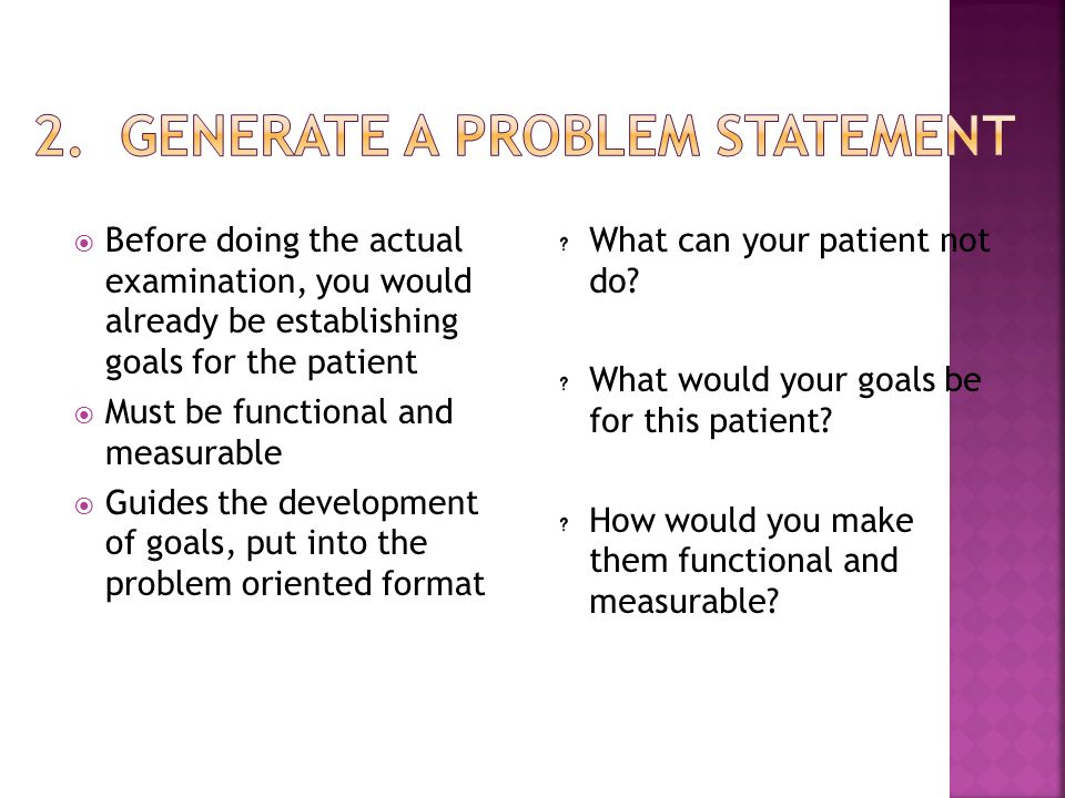2. Generate a Problem Statement