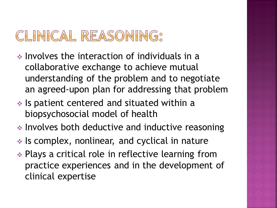 Clinical Reasoning:
