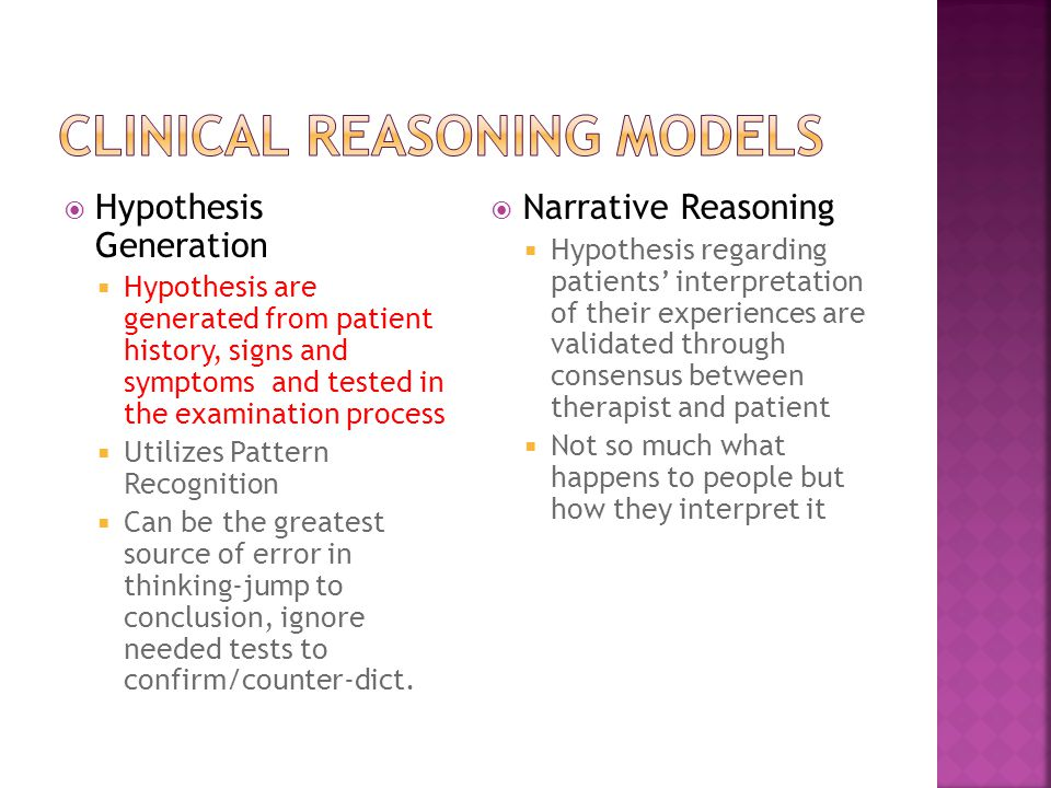 Clinical Reasoning Models