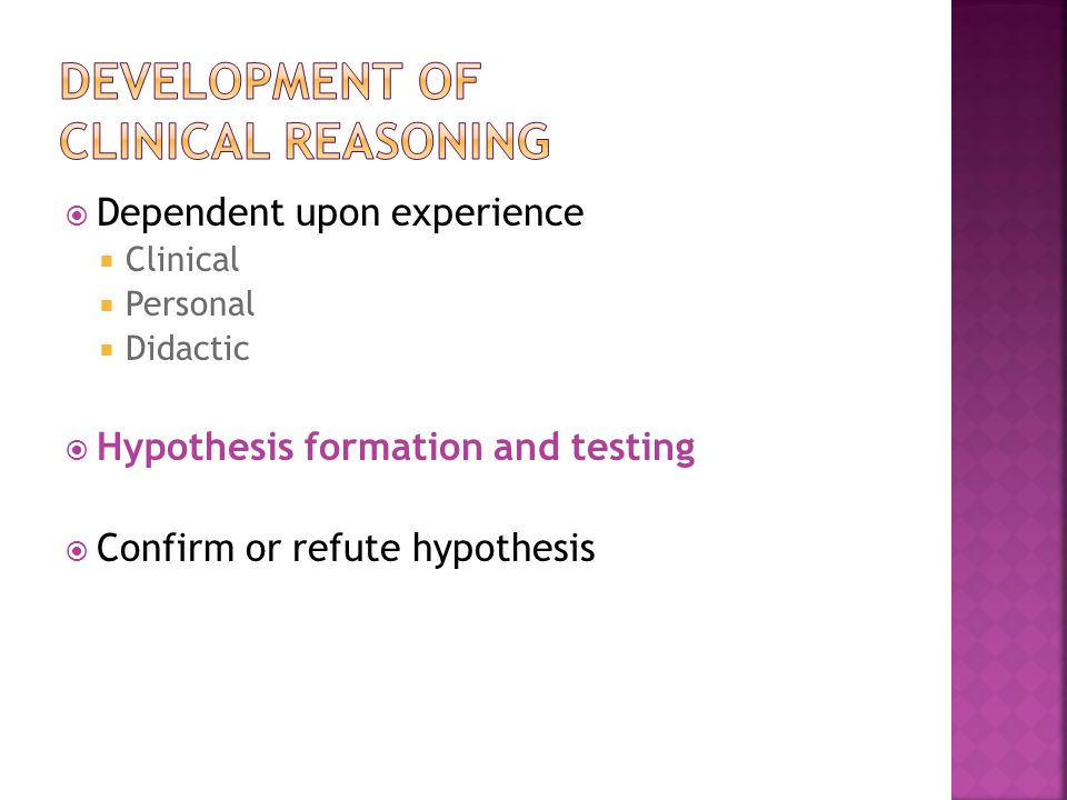 Development of Clinical Reasoning