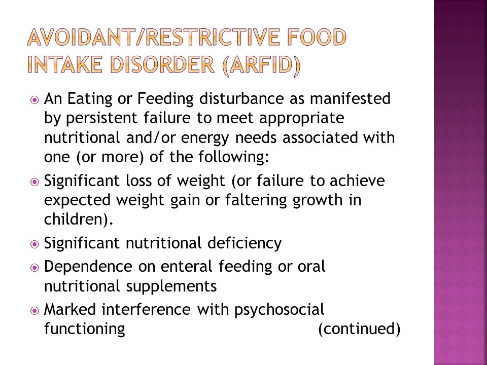 Avoidant/Restrictive Food Intake Disorder (ARFID)