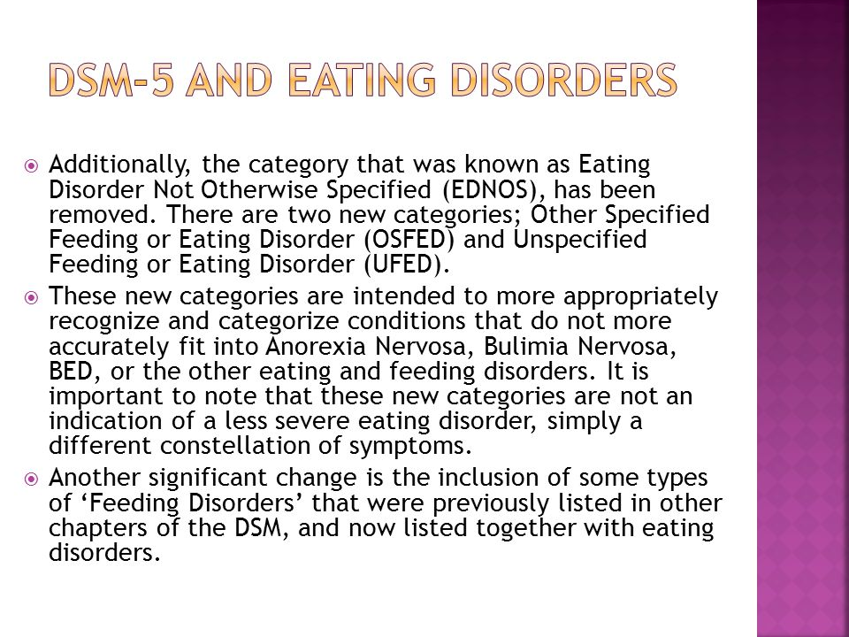 Dsm-5 and eating disorders