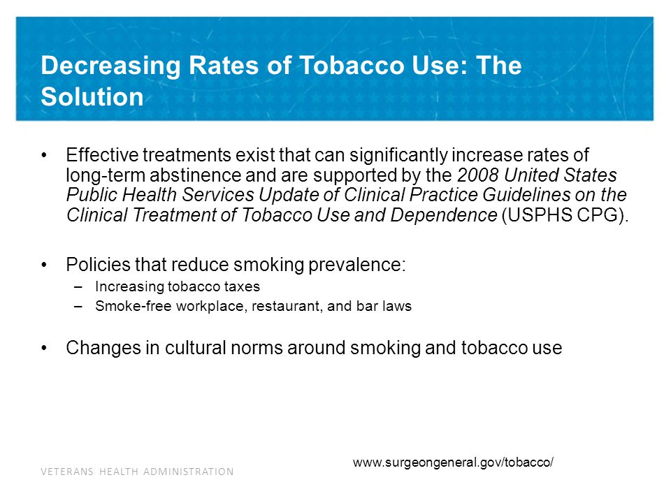 De-normalization of Tobacco Use