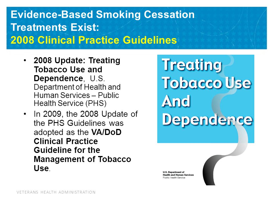 CPG 2008: Main Findings on Treating Tobacco Use