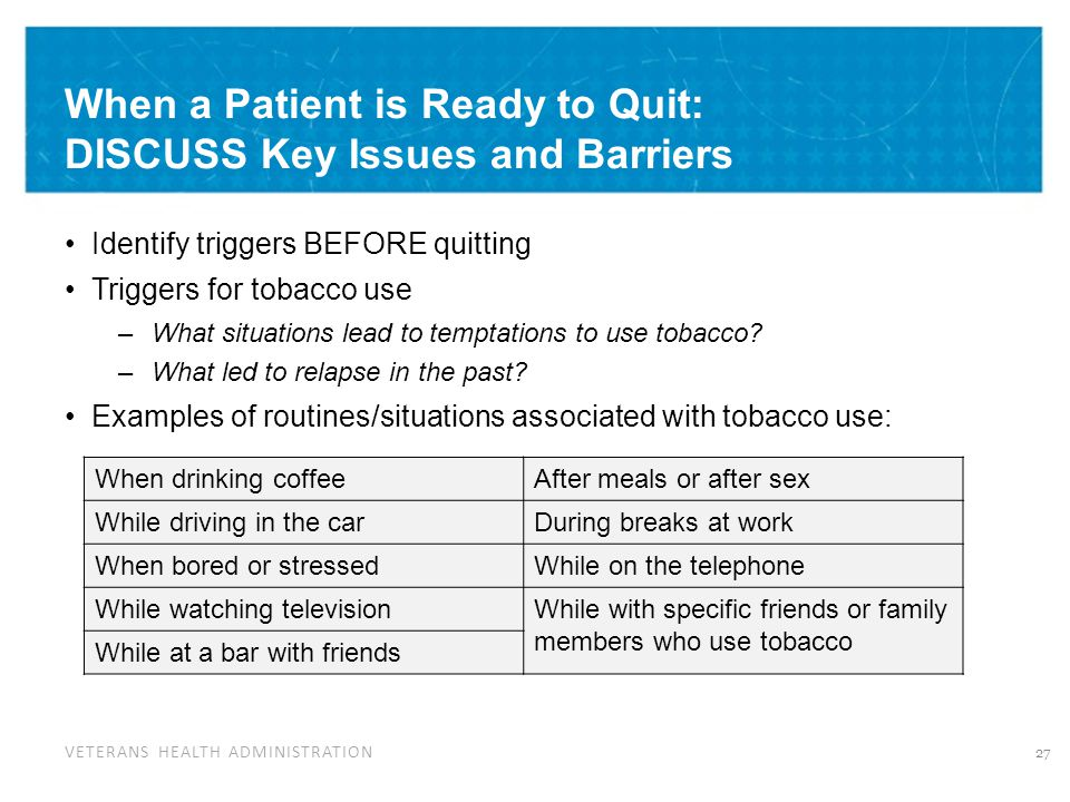 When a Patient is Ready to Quit: Key Issues and Barriers for Women