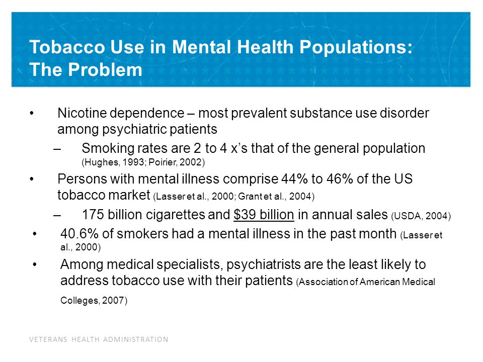 Tobacco Kills People with Mental Illness