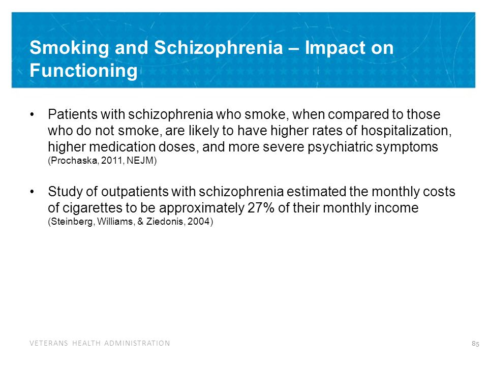 Tobacco Cessation & Schizophrenia