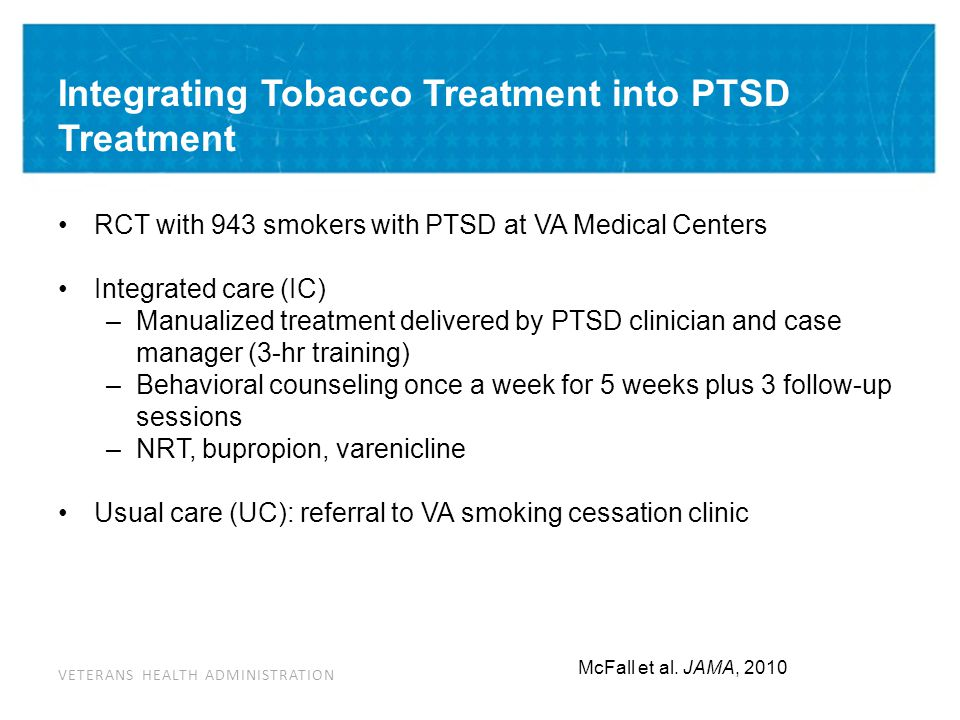 Integrating Tobacco Cessation into PTSD Treatment