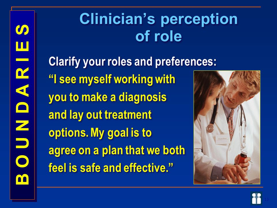 Clinician's perception of role