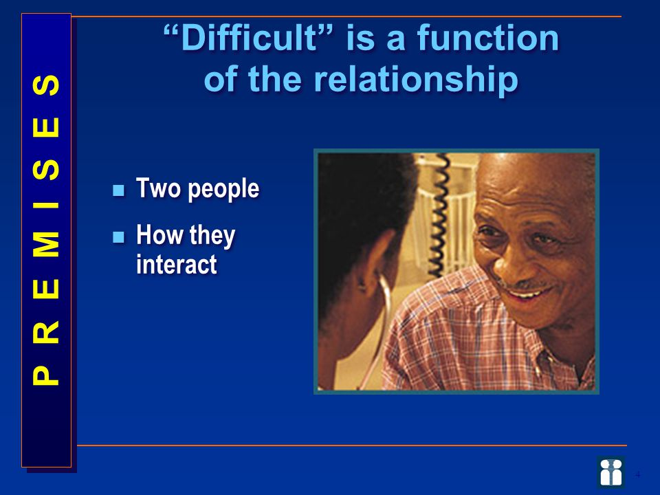 Difficult is a function of the relationship