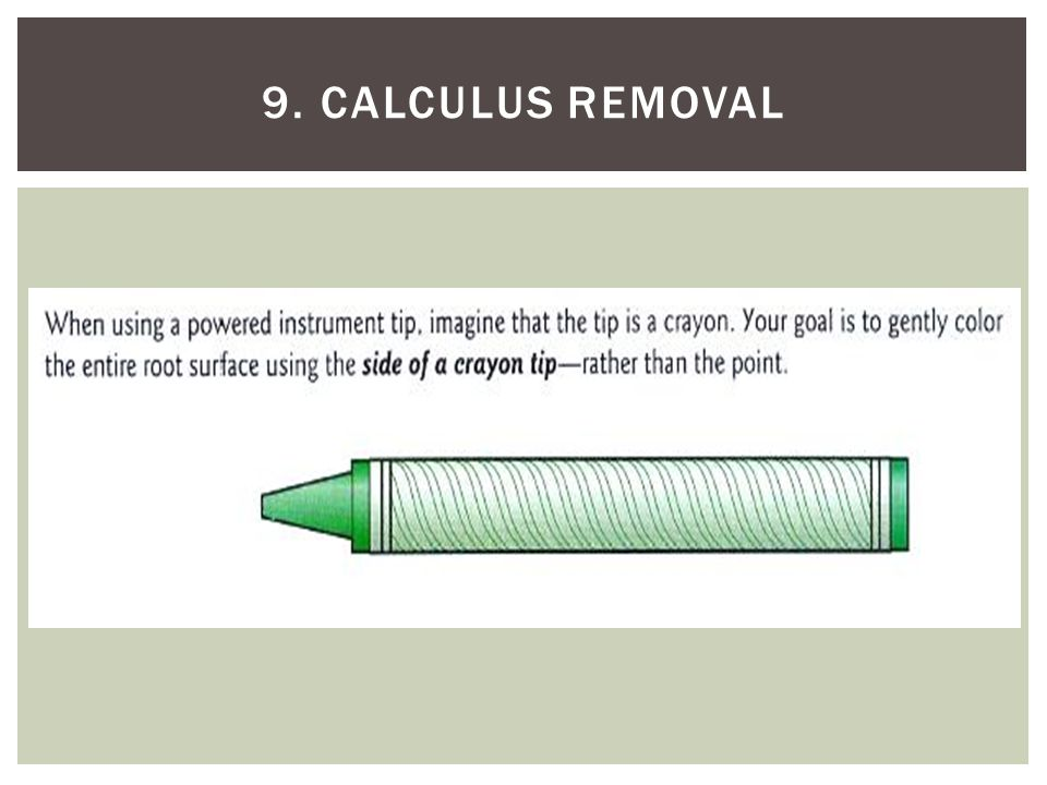 9. Calculus removal