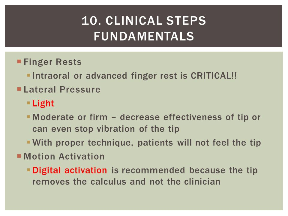 10. Clinical steps Fundamentals