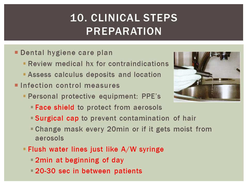 10. Clinical steps Preparation
