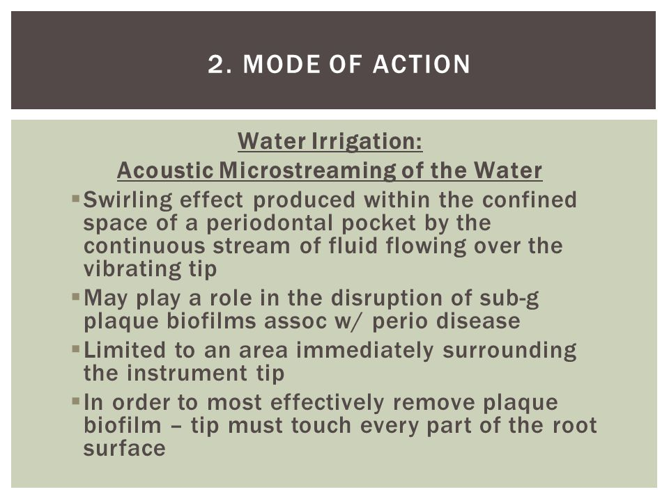 Acoustic Microstreaming of the Water
