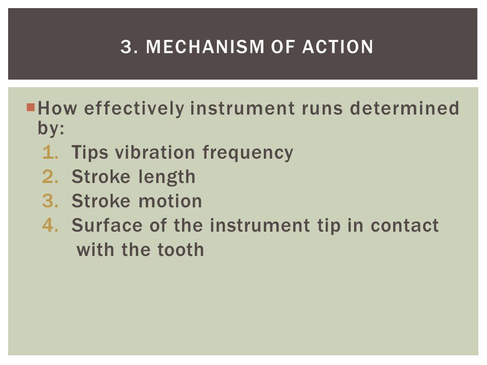 How effectively instrument runs determined by: