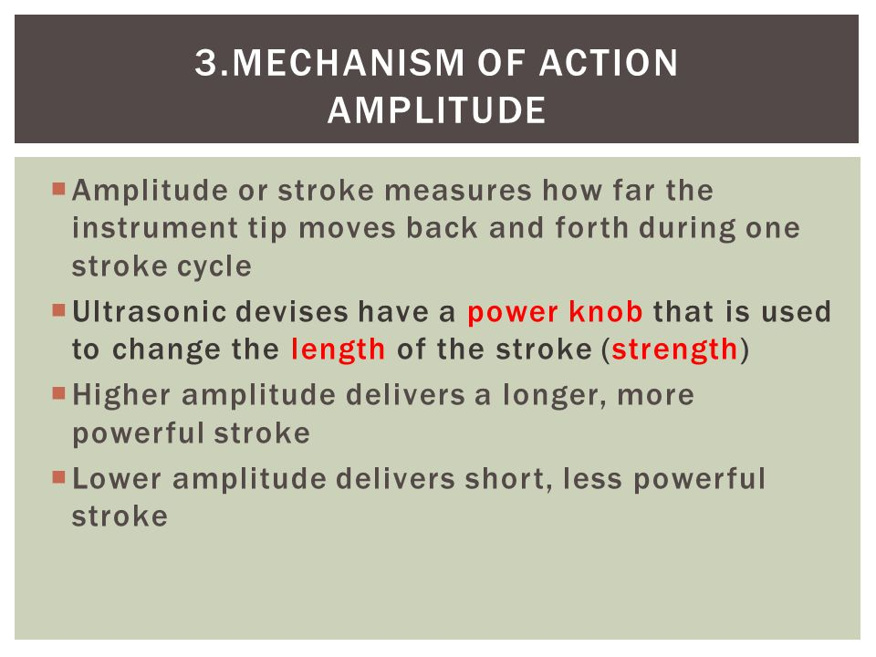 3.Mechanism of action amplitude