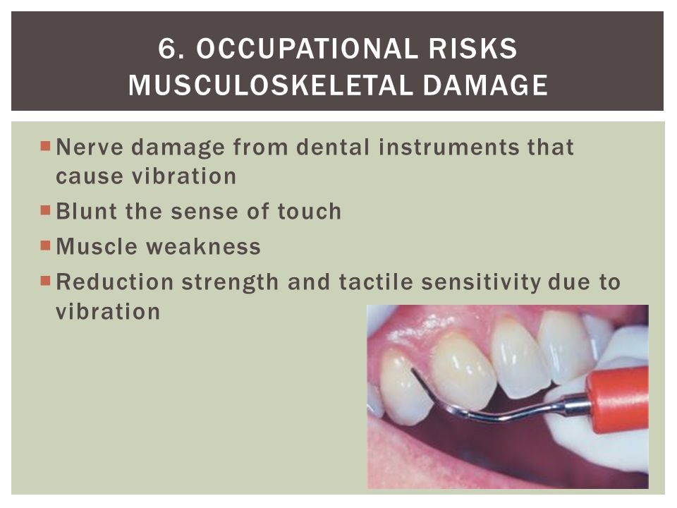 6. Occupational risks musculoskeletal damage