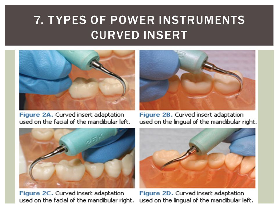 7. Types of power instruments Curved insert