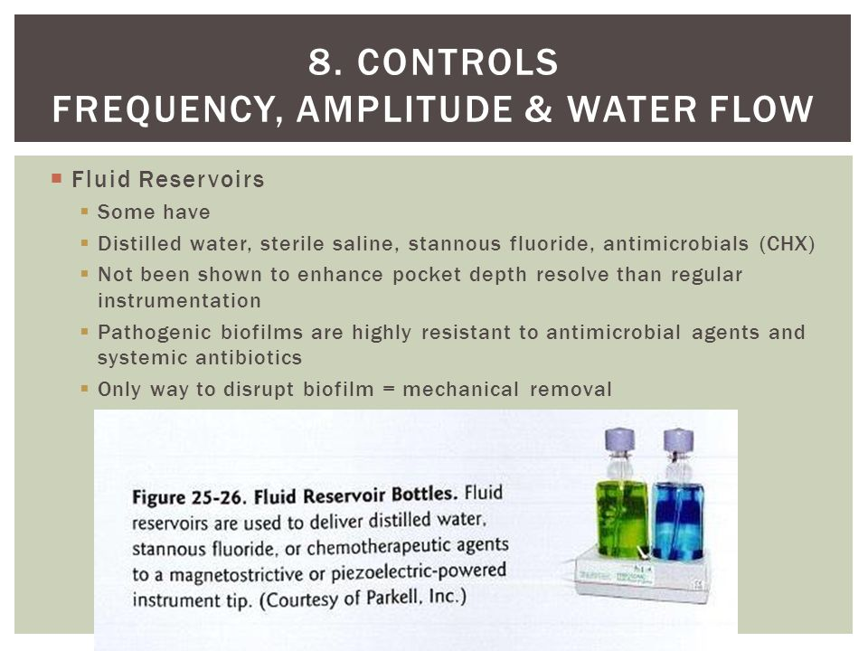 8. Controls frequency, amplitude & water flow