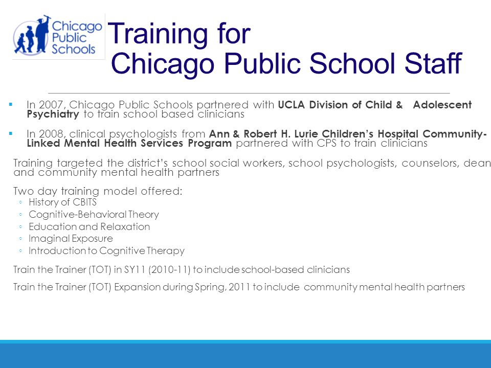Training for Chicago Public School Staff