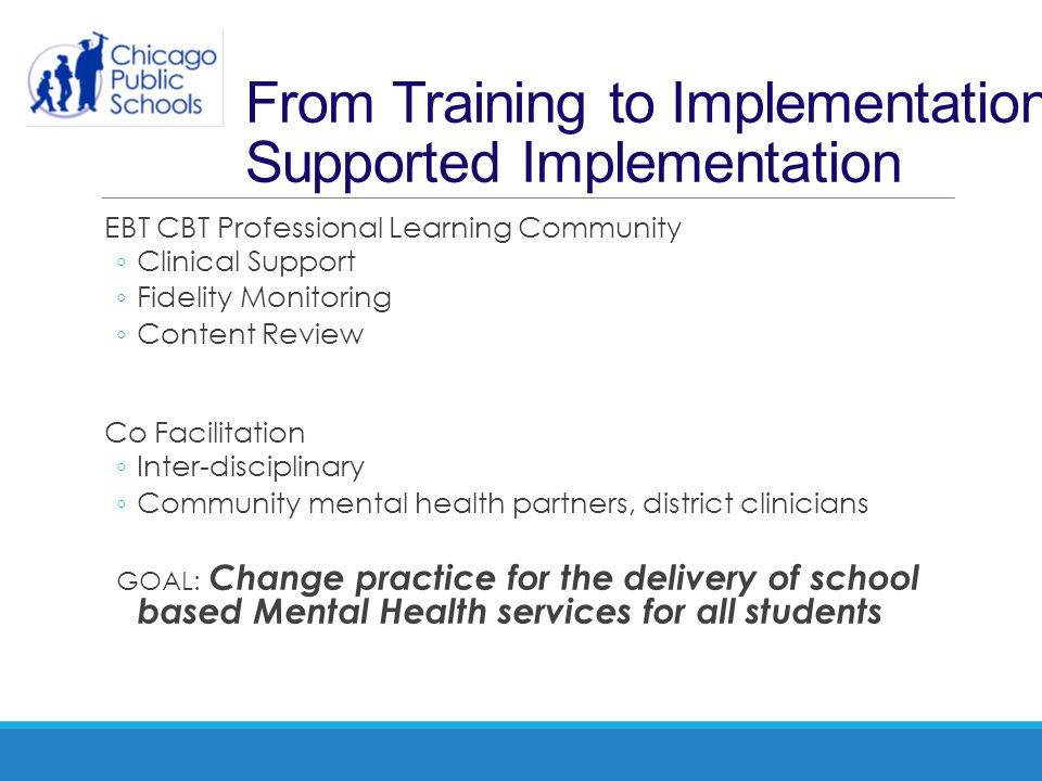 From Training to Implementation: Supported Implementation