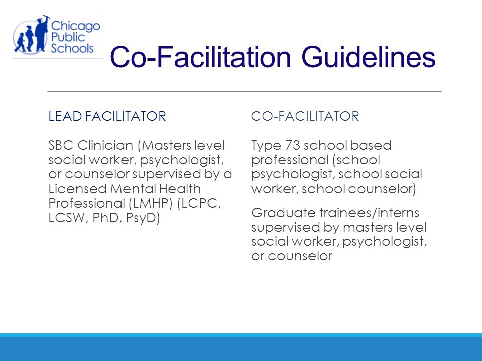 Co-Facilitation Guidelines