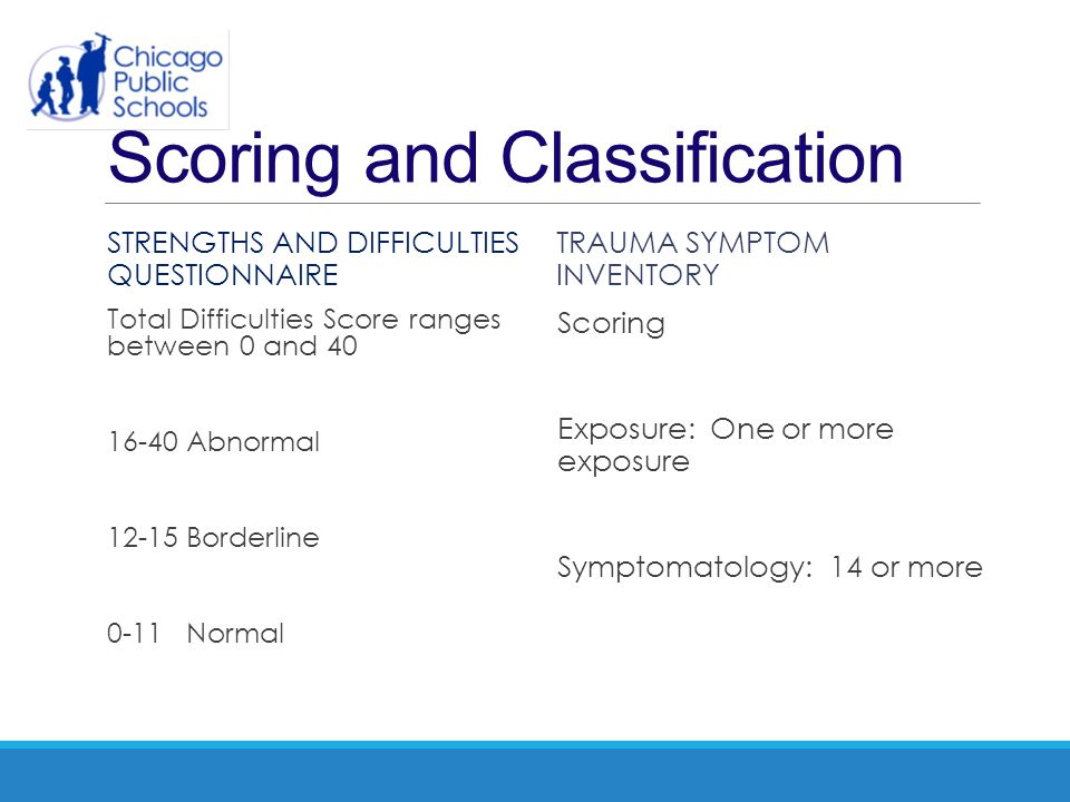 Scoring and Classification