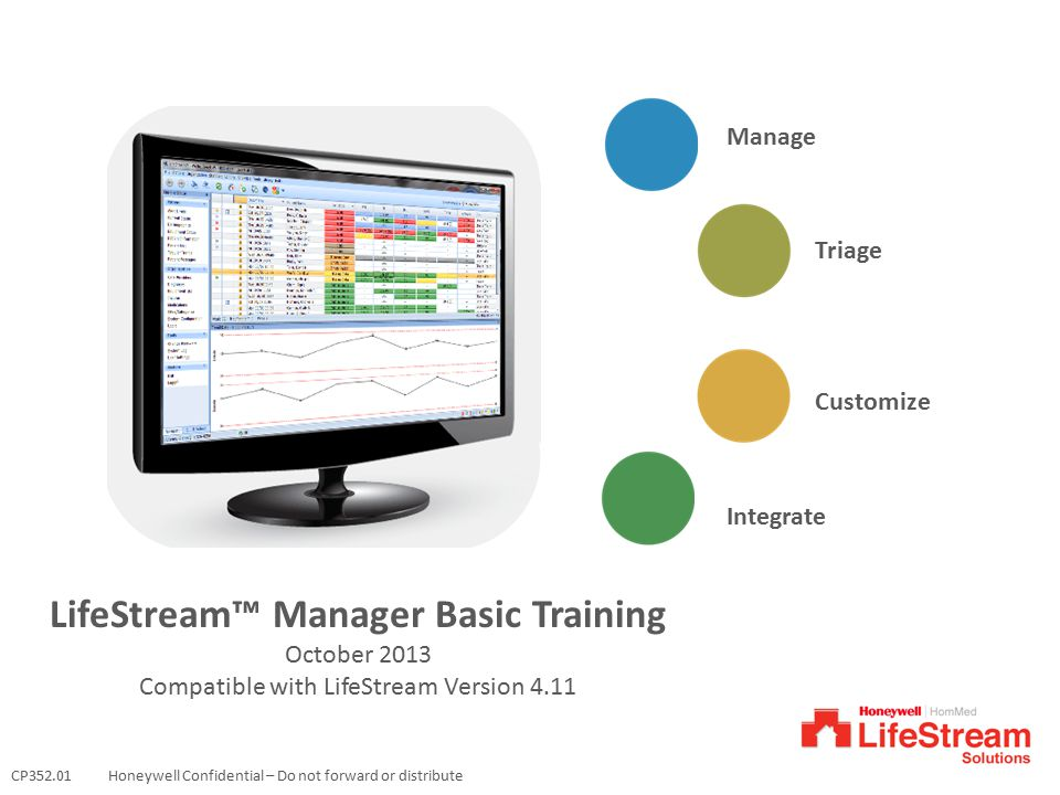 LifeStream™ Manager Basic Training