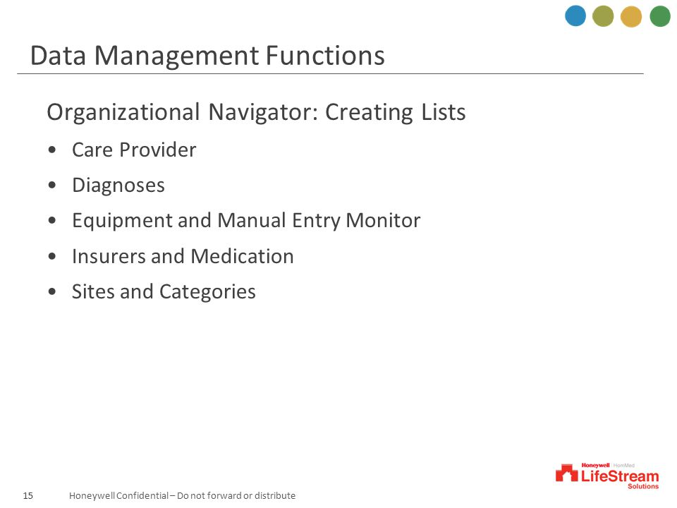 Data Management Functions