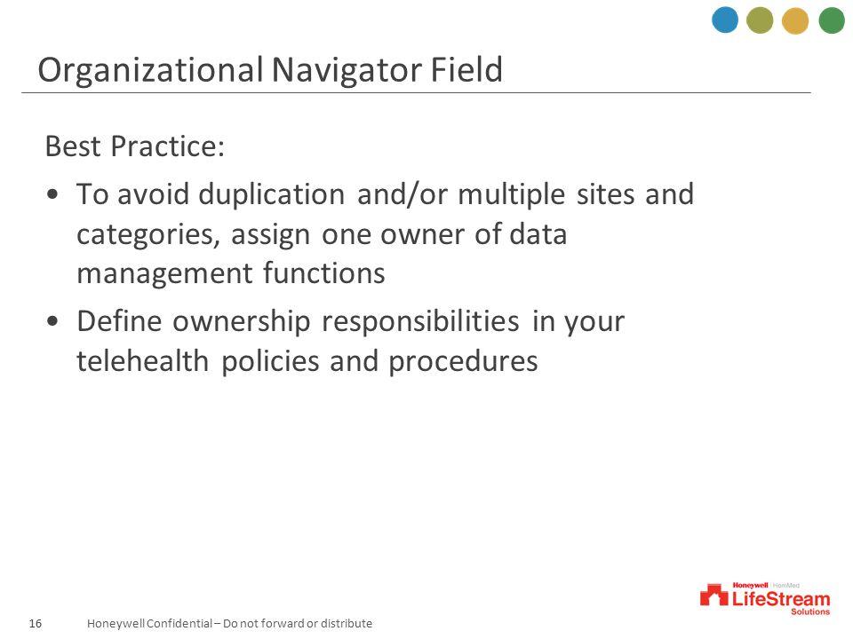 Organizational Navigator Field