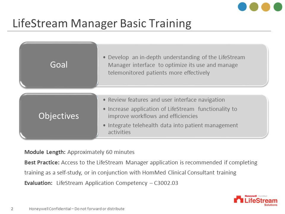 LifeStream Manager Basic Training
