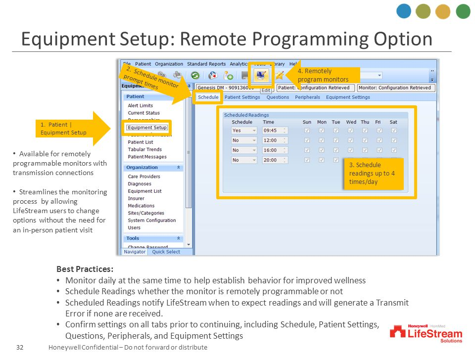 Equipment Setup: Remote Programming Option