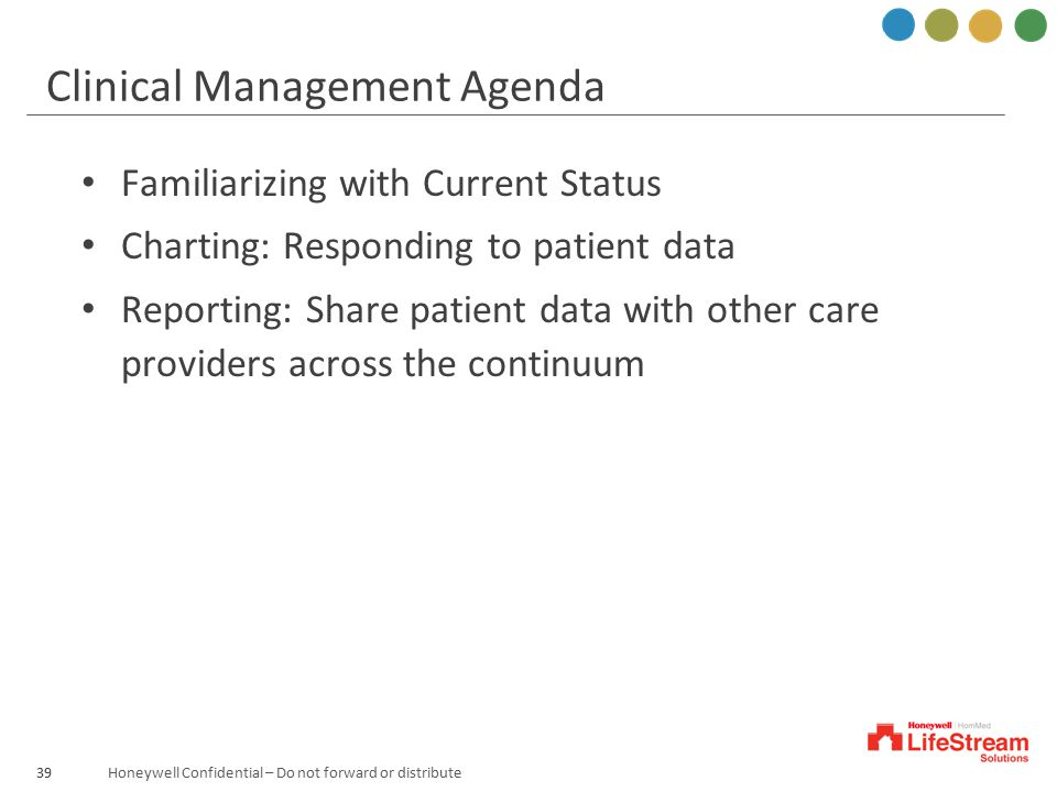 Clinical Management Agenda