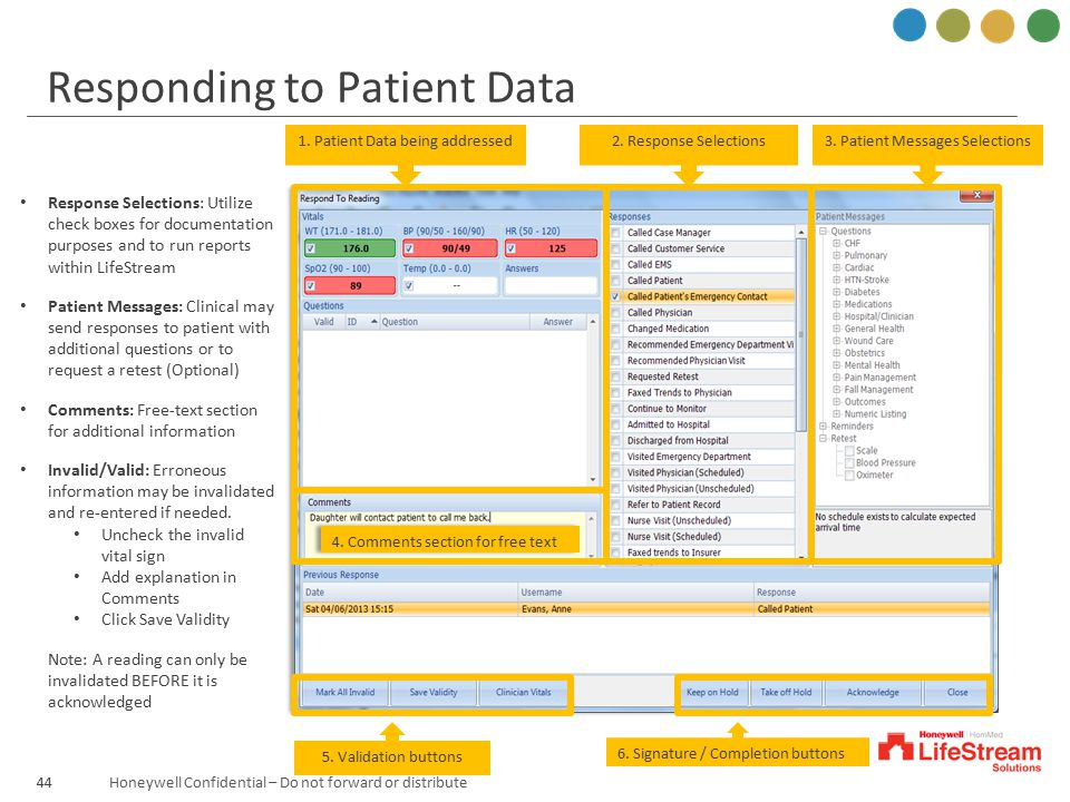 Responding to Patient Data