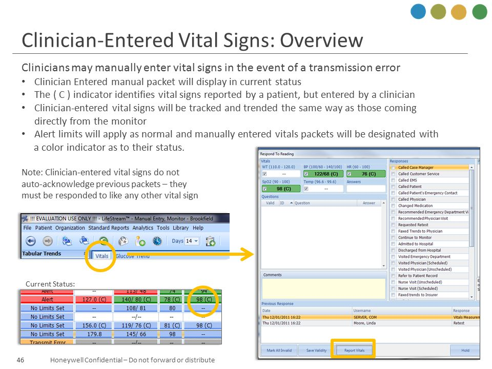 Clinician-Entered Vital Signs: Overview