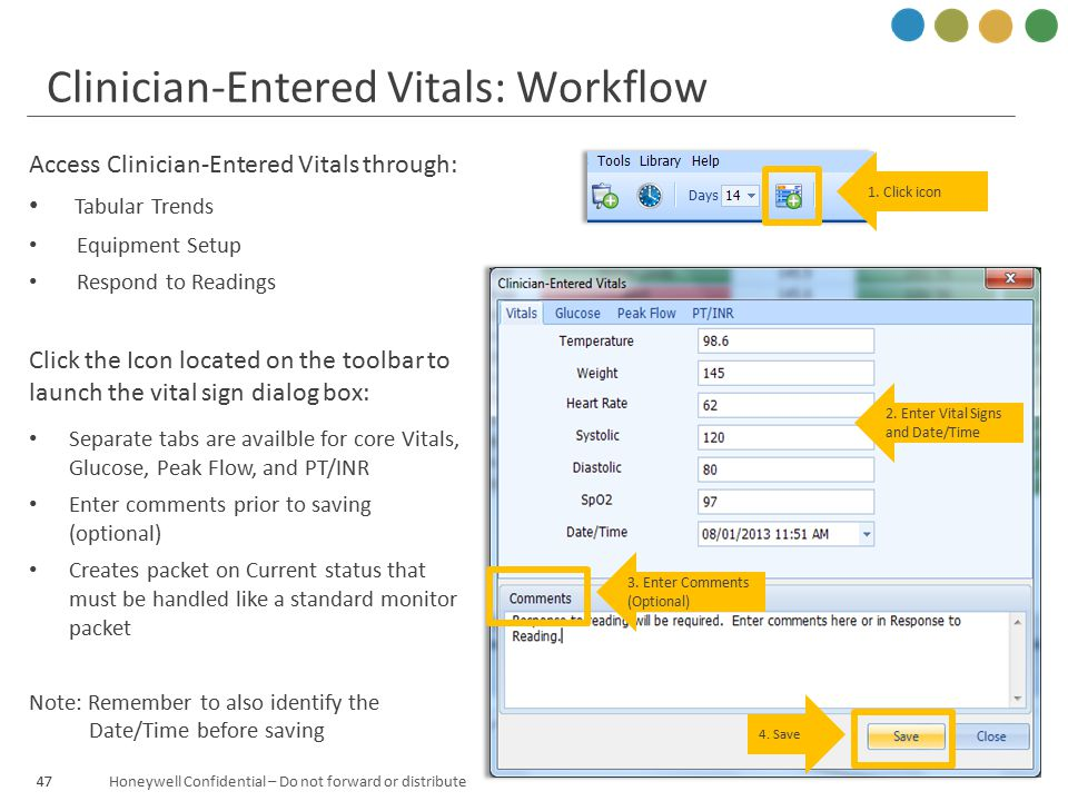 Clinician-Entered Vitals: Workflow