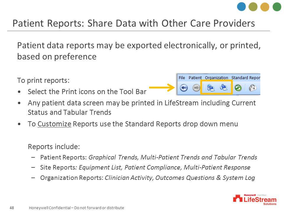 Patient Reports: Share Data with Other Care Providers