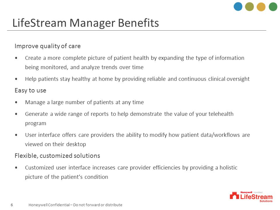 LifeStream Manager Benefits